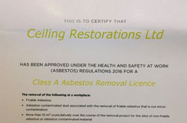 Cass A Certified Asbestos removal