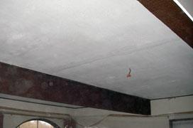 Before ceiling restoration