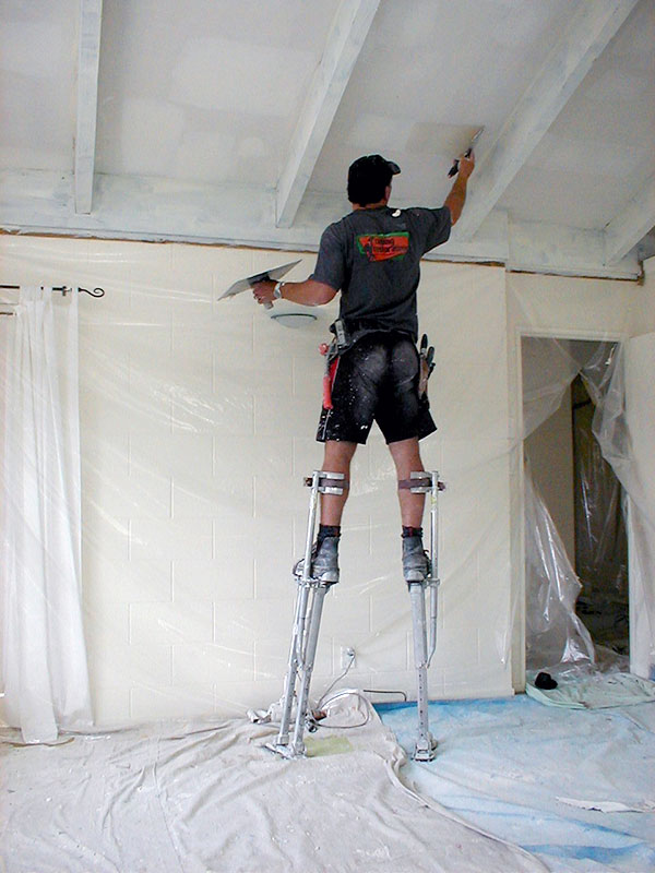 Removing asbestos from ceilings