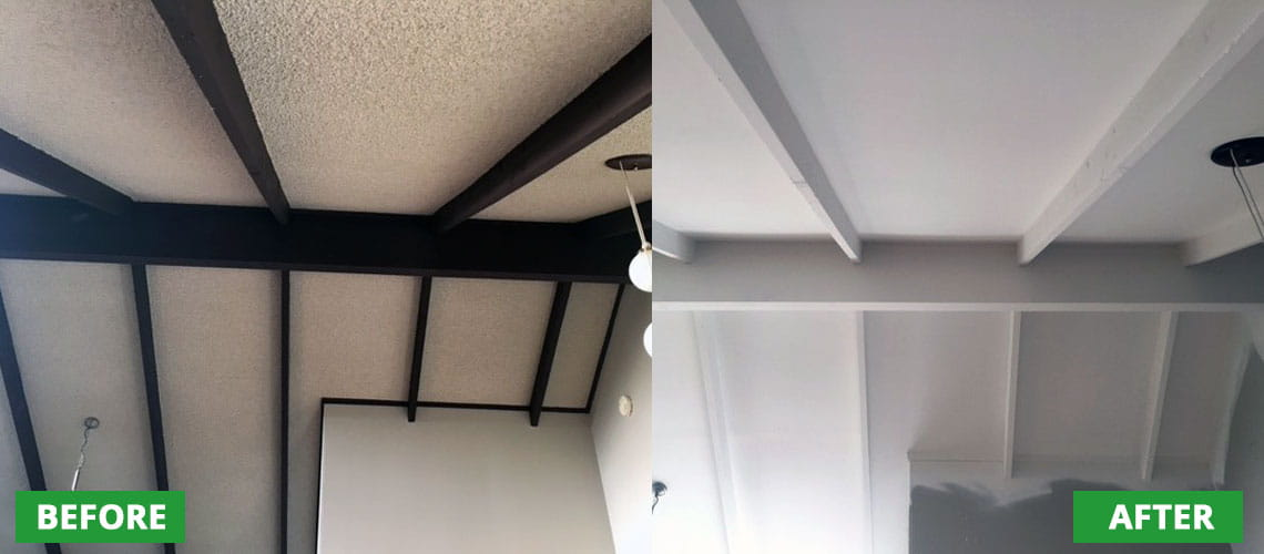 Ceiling texture removal